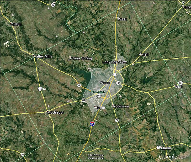 Urbanized Waco Area