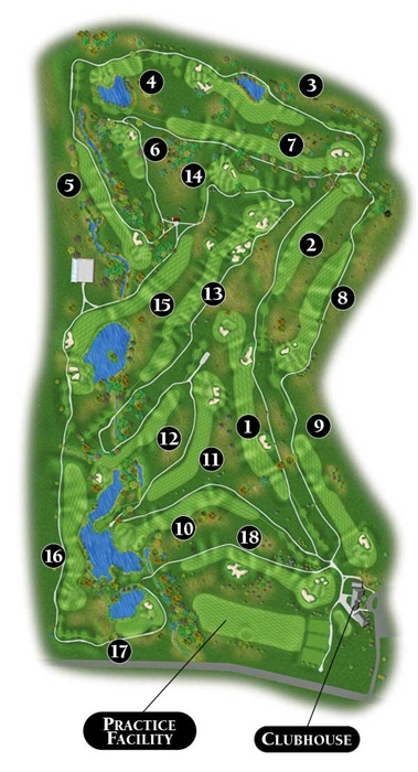 course map  cottonwood creek golf course