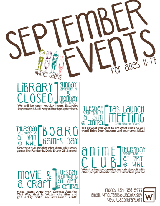 Teen Events for September